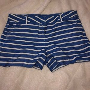 Vineyard Vines White and Blue Striped Shorts